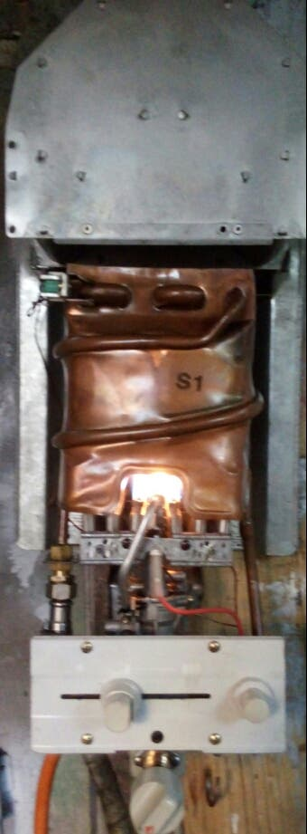 calentador Junkers piezoelectrico butano