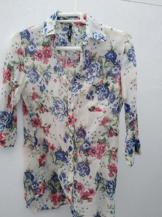 camisa de flores mujer