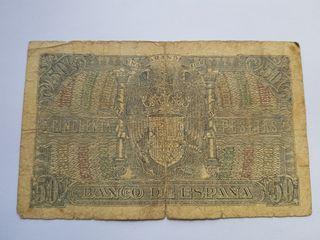 50 pesetas 1940 Menéndez Pelayo