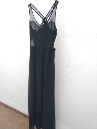 Vestido negro ZARA Talla M.