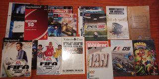 Pack de manuales PS1, PS2, PS3, NDS
