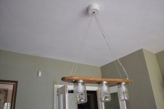 Lámpara madera de deriva