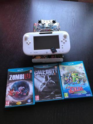 Wii U + mandos + juegos