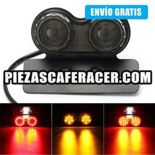 Luz moto de Freno Cafe Racer con Intermitentes y S