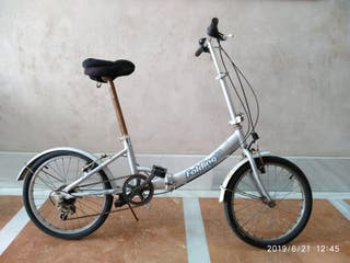 "bicicleta plegable aluminio 20"" Folding bike."