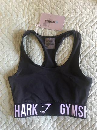 Womans gymshark Black white fit sports bra size xs