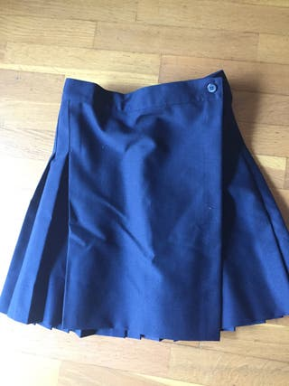 Falda uniforme. Azul marino