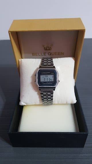 Reloj Digital Plateado