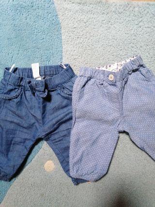 lote pantalones niña 3 meses