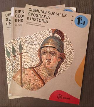 Libro Ciencias Sociales, HISTyGEO 1ESO Akal