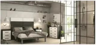 Dormitorio* matrimonio 044 Ebony-Mármol no