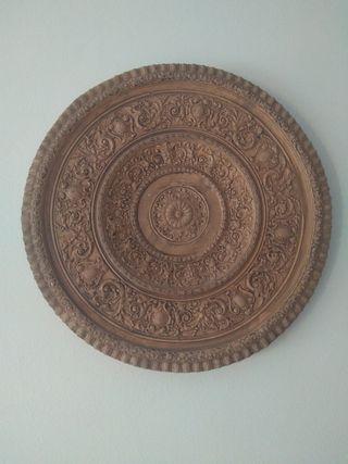 platos decoracion ceramica (2 platos).Hecho a mano