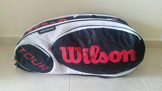 Raquetero Bolso Wilson Tour Tenis Raqueta