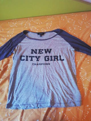camiseta new city girl Mango