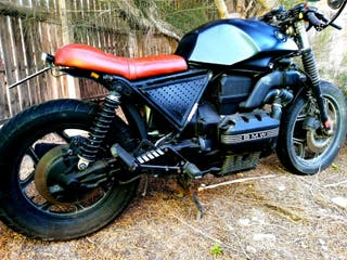 BMW K 75 negra 750cc café racer