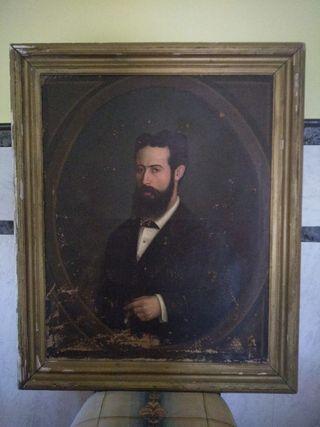 cuadro antiguo de 1883