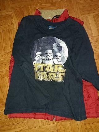 Chaleco y camiseta manga larga