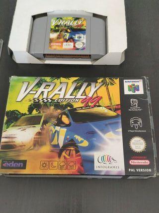 juego de consola Nintendo 64 v-rally