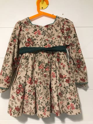 Vestido Alhuka niña 6 años manga larga