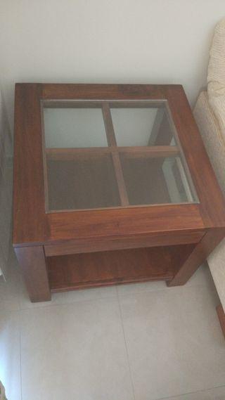 Conjunto de muebles de salón en teca maciza
