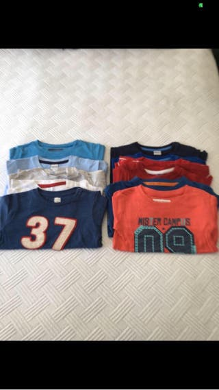 12 camisetas de niño 12-18 meses manga larga