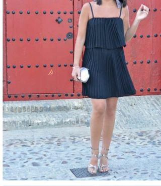 Vestido plisado mini