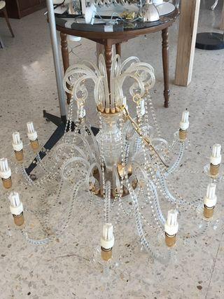 Lampara araña impresionante de cristal