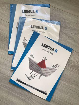 Libro Lengua 5 Anaya 3 trimestres primaria