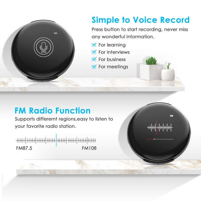 Reproductor MP3 32 GB Bluetooth 4.1 Aspecto Redond