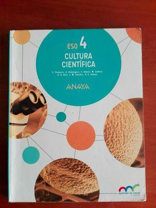 Cultura cientifica. 4 ESO