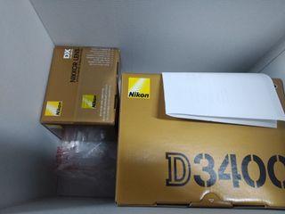 NIKON D3400, OBJETIVO 18-55DX