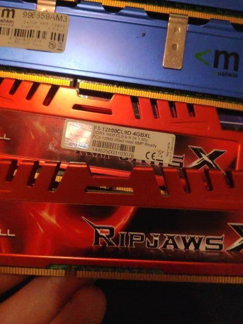 RAM 8GB 1666Mhz DDR3 4 MODULOS