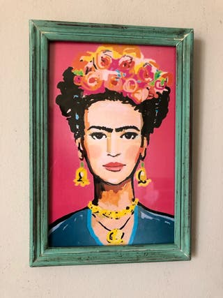 Cuadro Frida Kahlo 22 x 32