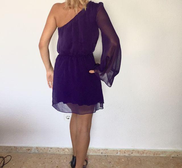 Mini Vestido Morado Corto De Segunda Mano Por 8 En
