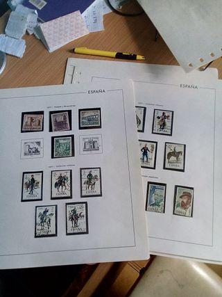 coleccion de sellos y billetes