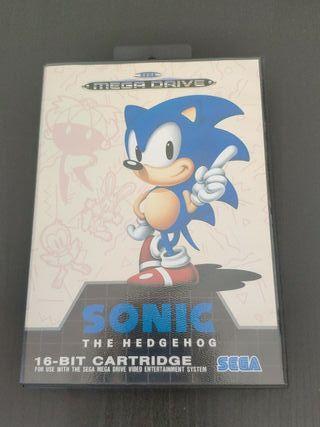 juego Sonic de consola Sega mega Drive