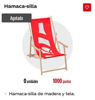 Hamaca Madera Coca-Cola