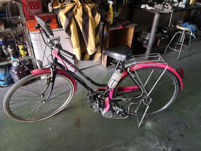 Bici con motor auxiliar
