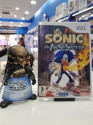 SONIC Y LOS ANILLOS SECRETOS WII IMPECABLE