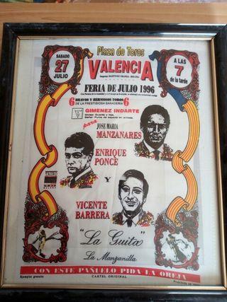 antiguo pañuelo cartel taurino