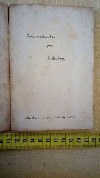 LIBRO MANUSCRITO POR A. DUBOY 1898