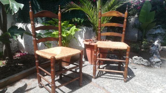 Silla rustica enea antigua sillas.