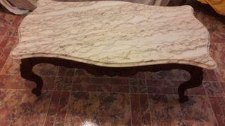 Mesa de recibidor torneada-mármol