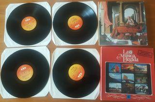 4 LPs Grandes Orquestas - La musica elegida. NUEVO
