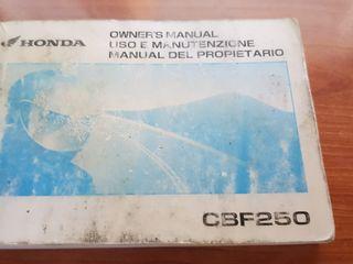 Manual Honda CBF250