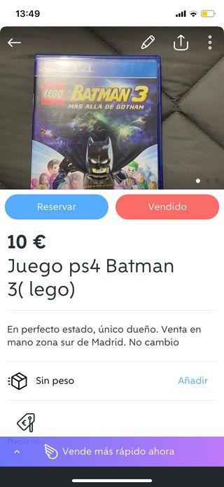 Juego ps4 Batman 3 lego
