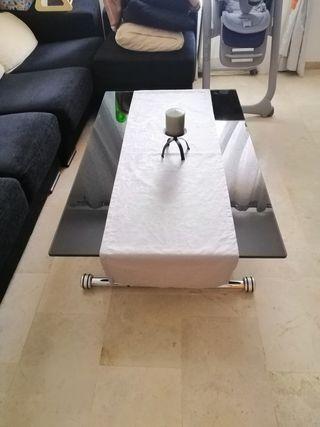 Mesa hidráulica elevable para comedor