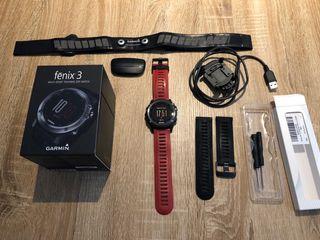 Reloj Garmin Fenix 3 con cinta pulsometro.