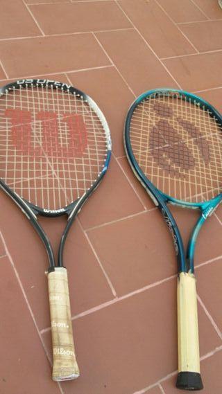 pack 2 raquetas tenis wilson decathlon 2€ total