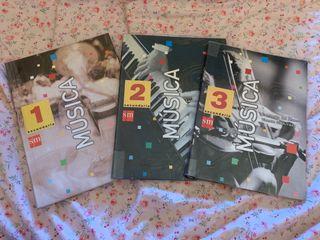 Libros de texto Música 1, 2, 3 secundaria
